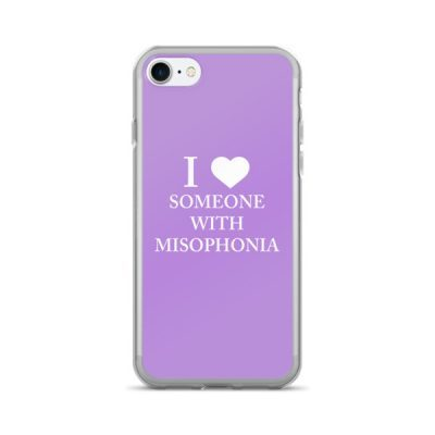 """""""I ❤ Someone With Misophonia"""" – Lilac / iPhone 7/7 Plus Case"""