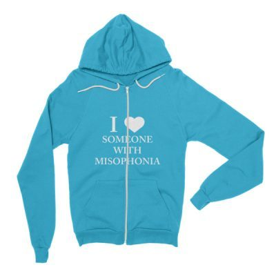 """""""I ❤ Someone With Misophonia"""" Hoodie (Select Color)"""