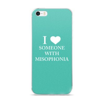 """""""I ❤ Someone With Misophonia"""" – Teal / iPhone 5/5s/Se, 6/6s, 6/6s Plus Case"""