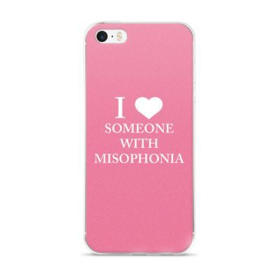 """""""I ❤ Someone With Misophonia"""" – Pink / iPhone 5/5s/Se, 6/6s, 6/6s Plus Case"""