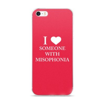 """""""I ❤ Someone With Misophonia"""" – Red / iPhone 5/5s/Se, 6/6s, 6/6s Plus Case"""