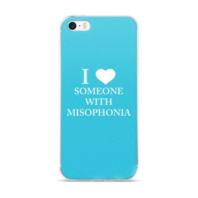 """""""I ❤ Someone With Misophonia"""" – Blue / iPhone 5/5s/Se, 6/6s, 6/6s Plus Case"""