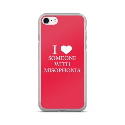 """""""I ❤ Someone With Misophonia"""" – Red / iPhone 7/7 Plus Case"""
